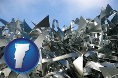 vermont map icon and scrap metal